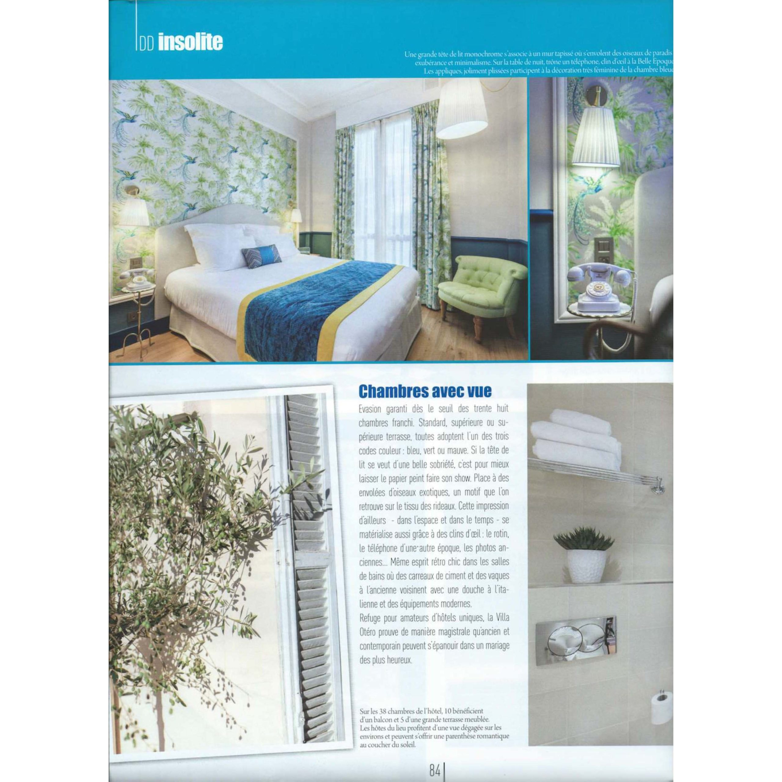 VILLA OTERO Article HOTEL 4 etoiles stephanie cayet architecture interieure design