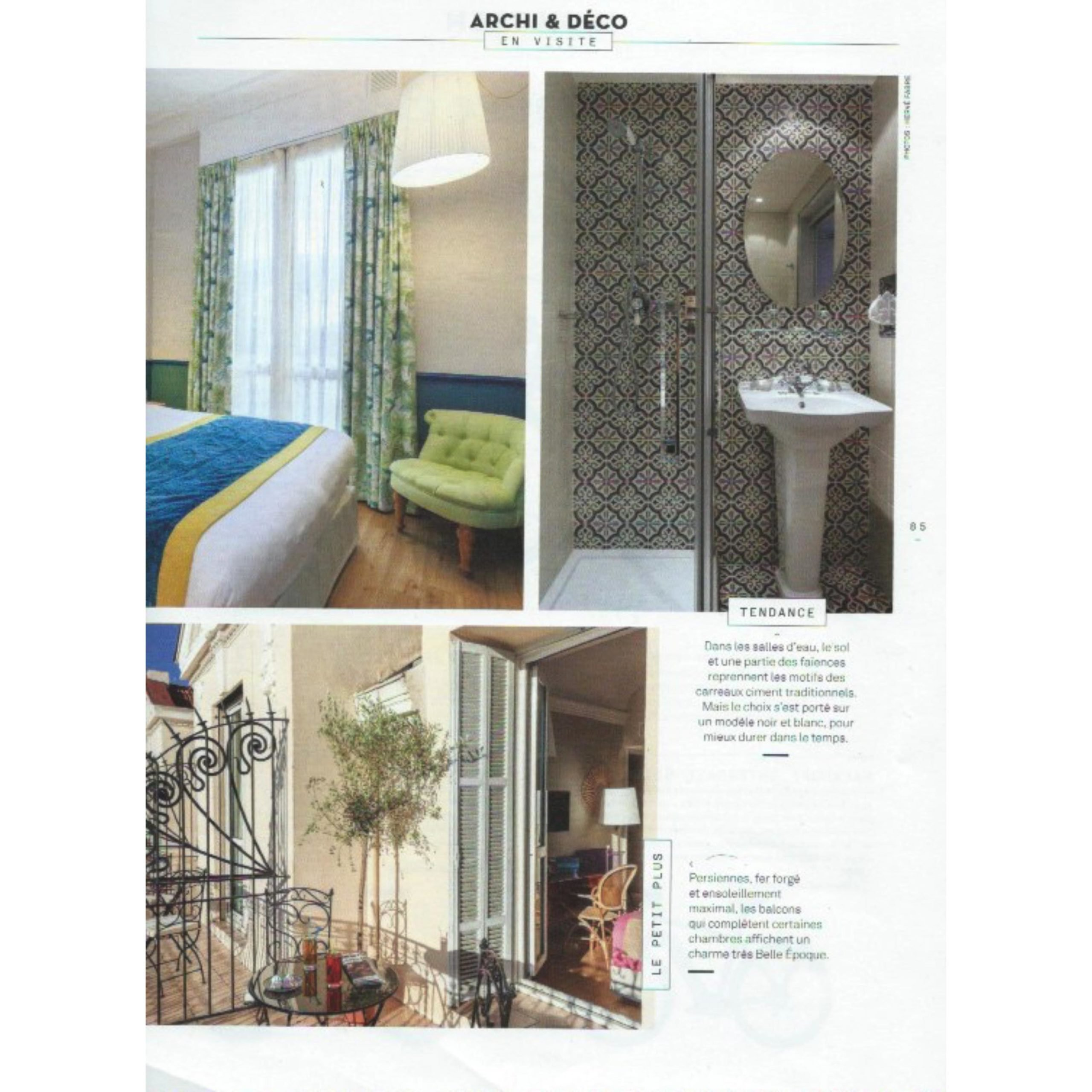 PRESSE OPTIMISTE MAGAZINE Article HOTEL 4 etoiles stephanie cayet architecture interieure design