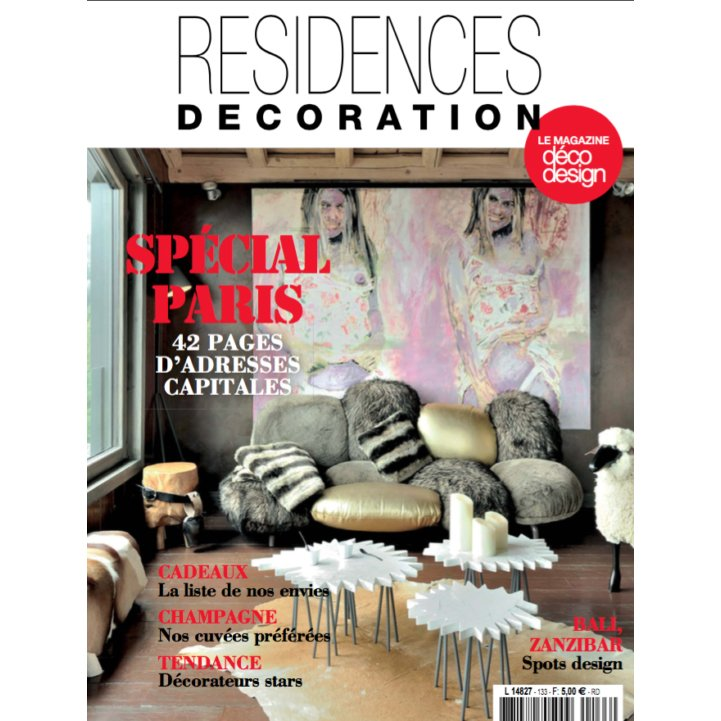 PRESSE RESIDENCES DECORATION Article HÔTEL 4 étoiles Stephanie Cayet architecture interieure design